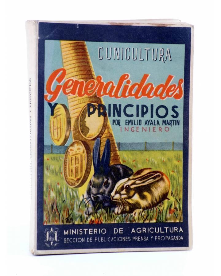 Cubierta de BIBLIOTECA DEL TÉCNICO EN CUNICULTURA TOMO 1º. GENERALIDADES Y PRINCIPIOS (Emilio Ayala Martín) 1944