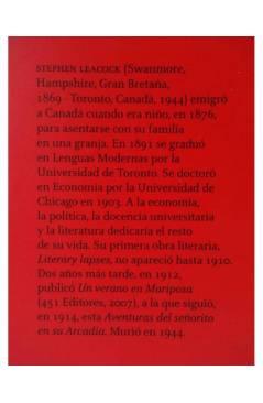Muestra 1 de AVENTURAS DEL SEÑORITO EN SU ARCADIA (Stephen Leacock) 451 Editores 2008
