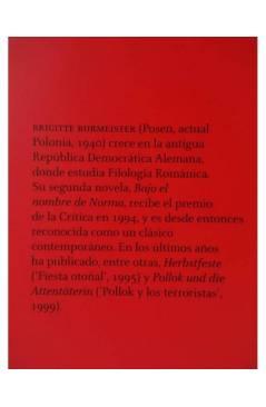 Muestra 1 de BAJO EL NOMBRE DE NORMA (Brigitte Burmeister) 451 Editores 2009