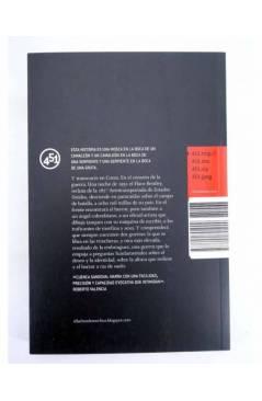 Contracubierta de EL LADRÓN DE MORFINA (Mario Cuenca Sandoval) 451 Editores 2010