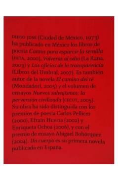 Muestra 1 de UN CUERPO (Diego José) 451 Editores 2008