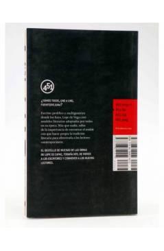 Contracubierta de COMEDIAS DE LOPE (Vv.Aa.) 451 Editores 2007