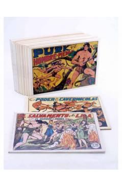 Cubierta de PURK EL HOMBRE DE PIEDRA TOMOS 1 A 12. NÚMEROS 1 A 96. FACSIMIL (Manuel Gago) JLA 1986