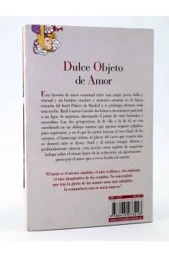 Contracubierta de DULCE OBJETO DE AMOR (Raúl Guerra Garrido) Reino de Cordelia 2013
