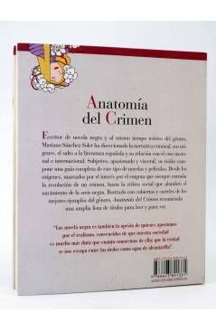 Contracubierta de ANATOMÍA DEL CRIMEN. GUÍA DE LA NOVELA Y EL CINE NEGROS (Mariano Sánchez Soler) Reino de Cordelia 2011