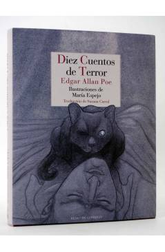 Cubierta de DIEZ CUENTOS DE TERROR (Edgar Allan Poe / María Espejo) Reino de Cordelia 2017
