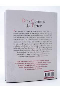 Contracubierta de DIEZ CUENTOS DE TERROR (Edgar Allan Poe / María Espejo) Reino de Cordelia 2017