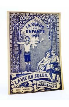 Cubierta de REVISTA LA REVUE DES ENFANTS. SUPPLEMENT A LA REVUE MAZDAZNAN. OCTOBRE (Vvaa) Mazdaznan 1932