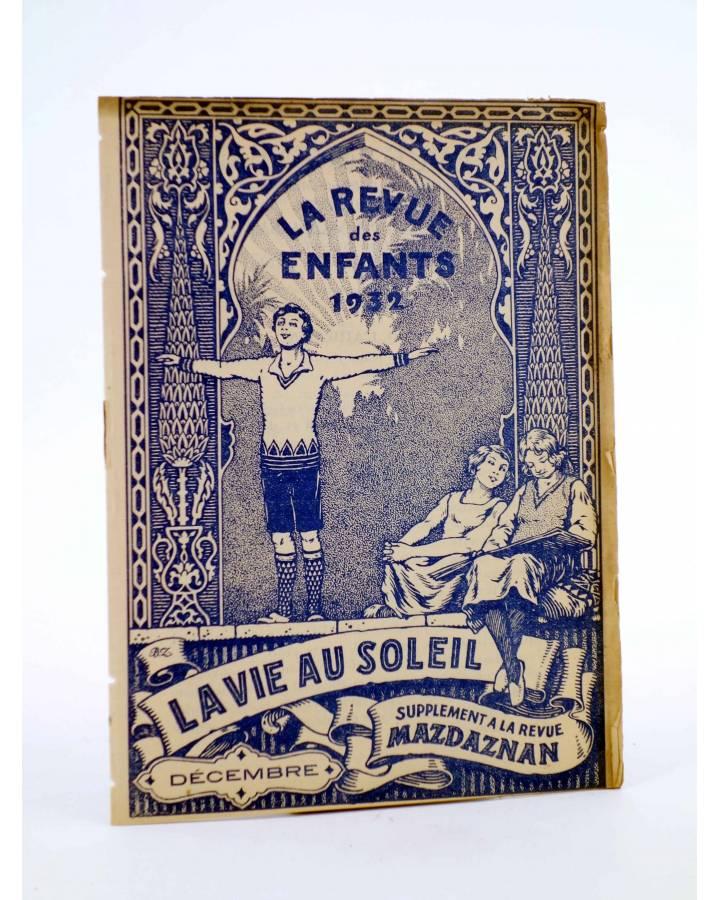 Cubierta de REVISTA LA REVUE DES ENFANTS. SUPPLEMENT A LA REVUE MAZDAZNAN. DÉCEMBRE (Vvaa) Mazdaznan 1932