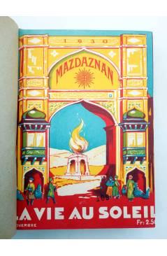 Cubierta de REVISTA MAZDAZNAN LA VIE AU SOLEIL. AÑO 1930 COMPLETO (Vvaa) Mazdaznan 1930. ZOROASTRISMO