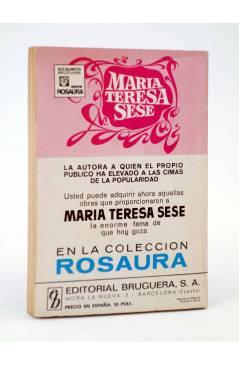 Contracubierta de COLECCIÓN ROSAURA 1191. CAMPING (María Teresa Sesé) Bruguera Bolsilibros 1972