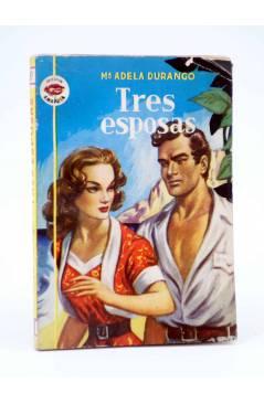 Cubierta de COLECCIÓN AMAPOLA 33. TRES ESPOSAS (Mª Adela Durango) Bruguera Bolsilibros 1952