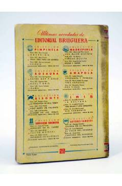 Contracubierta de COLECCIÓN AMAPOLA 33. TRES ESPOSAS (Mª Adela Durango) Bruguera Bolsilibros 1952