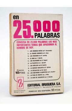 Contracubierta de COLECCIÓN AMAPOLA 986. NO ME DEJES CAER (María Teresa Sesé) Bruguera Bolsilibros 1971