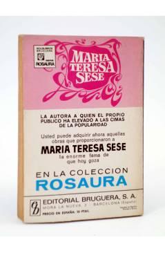 Contracubierta de COLECCIÓN AMAPOLA 999. NO ESTABAS A MI LADO (María Teresa Sesé) Bruguera Bolsilibros 1971
