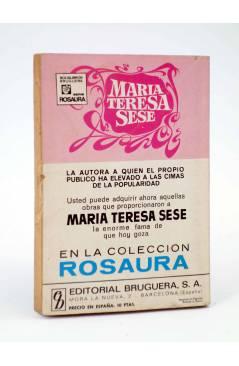 Contracubierta de COLECCIÓN AMAPOLA 1000. TAMBIÉN ME TIENES A MI (María Teresa Sesé) Bruguera Bolsilibros 1971