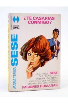 Cubierta de COLECCIÓN AMAPOLA 1010. ¿TE CASARÍAS CONMIGO? (María Teresa Sesé) Bruguera Bolsilibros 1972