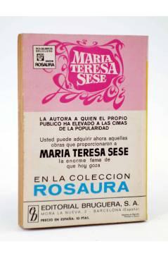 Contracubierta de COLECCIÓN AMAPOLA 1010. ¿TE CASARÍAS CONMIGO? (María Teresa Sesé) Bruguera Bolsilibros 1972