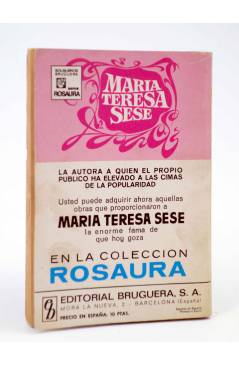 Contracubierta de COLECCIÓN AMAPOLA 1011. VEN (María Teresa Sesé) Bruguera Bolsilibros 1972