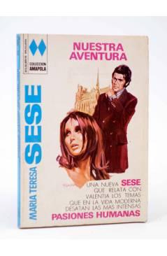 Cubierta de COLECCIÓN AMAPOLA 1017. NUESTRA AVENTURA (María Teresa Sesé) Bruguera Bolsilibros 1972