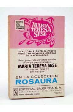 Contracubierta de COLECCIÓN AMAPOLA 1017. NUESTRA AVENTURA (María Teresa Sesé) Bruguera Bolsilibros 1972