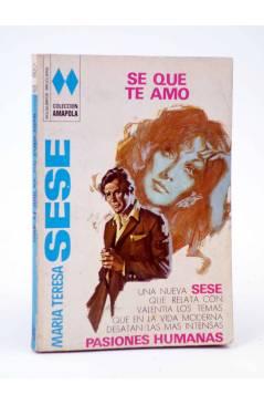 Cubierta de COLECCIÓN AMAPOLA 1031. SE QUE TE AMO (María Teresa Sesé) Bruguera Bolsilibros 1973
