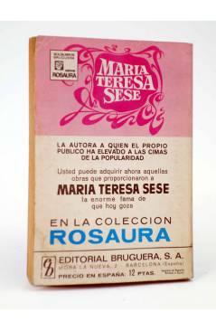 Contracubierta de COLECCIÓN AMAPOLA 1031. SE QUE TE AMO (María Teresa Sesé) Bruguera Bolsilibros 1973