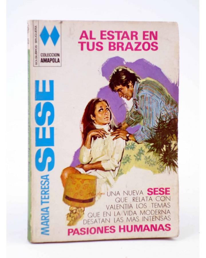 Cubierta de COLECCIÓN AMAPOLA 1035. AL ESTAR EN TUS BRAZOS (María Teresa Sesé) Bruguera Bolsilibros 1973