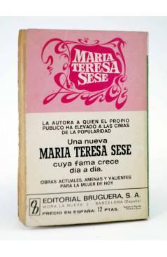 Contracubierta de COLECCIÓN AMAPOLA 1035. AL ESTAR EN TUS BRAZOS (María Teresa Sesé) Bruguera Bolsilibros 1973
