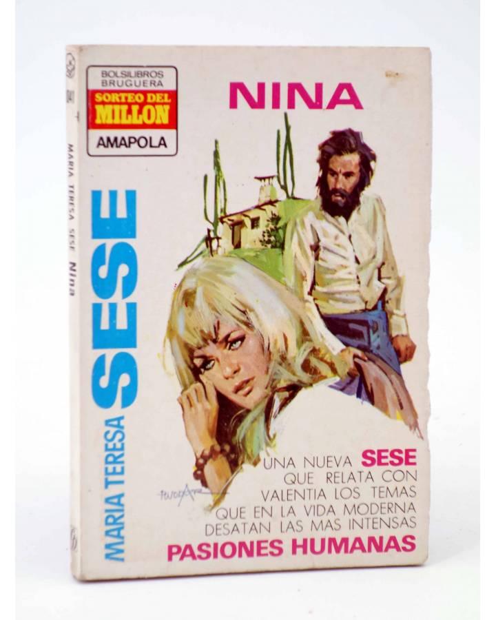 Cubierta de COLECCIÓN AMAPOLA 1041. NINA (María Teresa Sesé) Bruguera Bolsilibros 1973