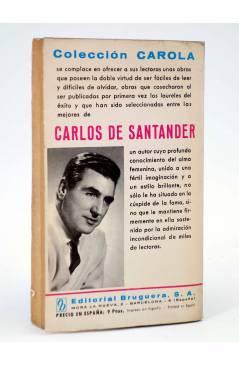 Contracubierta de COLECCIÓN CAROLA 113. FATAL INTROMISIÓN (Carlos De Santander) Bruguera Bolsilibros 1968
