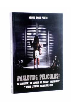 Cubierta de MALDITAS PELICULAS!. EL EXORCISTA LA SEMILLA DEL DIABLO POTERGEIST Y OTRAS LEYENDAS DEL CINE NEGRO (Miguel Á