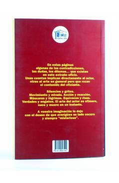 Contracubierta de EL MISTERIO DEL ACTOR (Juan Jesús Valverde) T&B 2009