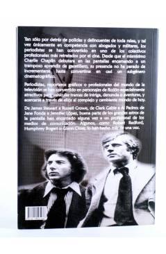Contracubierta de PERIODISTAS DE CINE. EL CUARTO PODER EN EL SÉPTIMO ARTE (Luis Mínguez Santos) T&B 2012