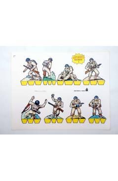 Muestra 4 de HOJAS RECORTABLES. SERIE AMARILLA. SOLDADOS 1 a 9. COMPLETA. Roma 1983