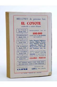 Contracubierta de EL COYOTE 134. NUEVO COYOTE 4: SENDA DE BALAS (José Mallorquí) Cliper 1951