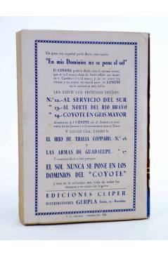 Contracubierta de EL COYOTE 140. NUEVO COYOTE 10: CUIDADO CON EL COYOTE (José Mallorquí) Cliper 1951