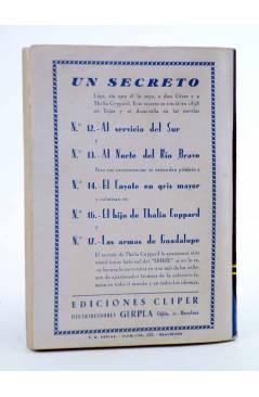 Contracubierta de EL COYOTE 141. NUEVO COYOTE 11: GUERRA EN LA CUENCA DEL RÍO SAUCES (José Mallorquí) Cliper 1951