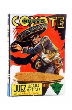 Cubierta de EL COYOTE 145. NUEVO COYOTE 15: EL JUEZ USABA ANTIFAZ (José Mallorquí) Cliper 1951