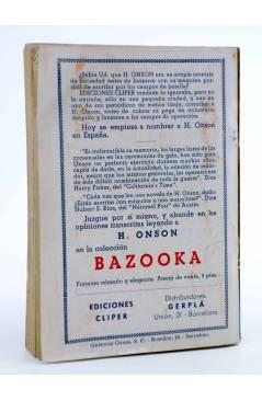 Contracubierta de EL COYOTE 151. NUEVO COYOTE 21: EL APACIBLE GERENAL CARLSON (José Mallorquí) Cliper 1951