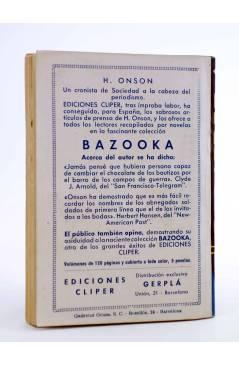 Contracubierta de EL COYOTE 156. NUEVO COYOTE 26: LA CONTRASEÑA (José Mallorquí) Cliper 1951
