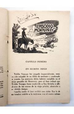 Muestra 1 de EL COYOTE 167. NUEVO COYOTE 37: EPISODIO EN MONTERREY (José Mallorquí) Cliper 1951