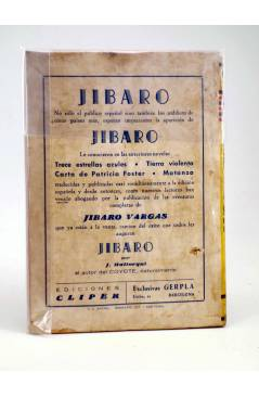 Contracubierta de JIBARO 1. CAPITÁN JIBARO (José Mallorquí) Cliper 1951
