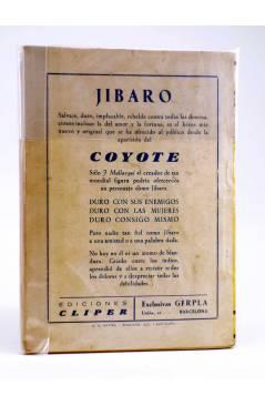 Contracubierta de JIBARO 3. JÍBARO VARGAS (José Mallorquí) Cliper 1951