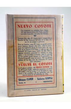 Contracubierta de JIBARO 6. EL FORAJIDO (José Mallorquí) Cliper 1951