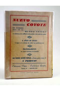 Contracubierta de JIBARO 10. RÍO FUNERAL (José Mallorquí) Cliper 1951