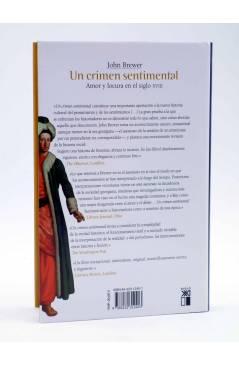 Contracubierta de UN CRIMEN SENTIMENTAL. AMOR Y LOCURA EN EL SIGLO XVIII (John Brewer) Siglo XXI 2006