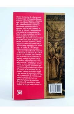 Contracubierta de UNA HUMILDE DEFENSA DE LOS BURDELES PÚBLICOS (Bernard Mandeville) Siglo XXI 2008