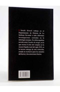 Contracubierta de SELECCIÓN PULP FICCIÓN 3. CAZADOR DE STRIGES (Soizik Stiwell) 23 Escalones 2011