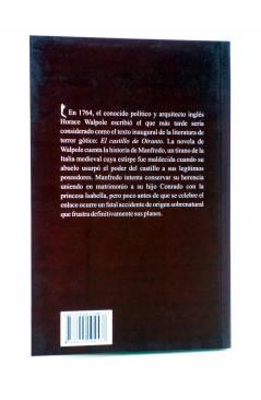 Contracubierta de EL CASTILLO DE OTRANTO (Horace Walpole) 23 Escalones 2011